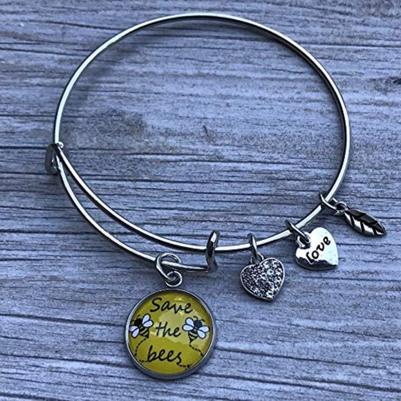 Save The Bees Bracelet, Help Save The Honeybees NWT